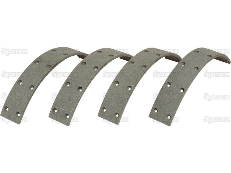 BRAKE LINING KIT, 4 PC, W/ RIVITS
