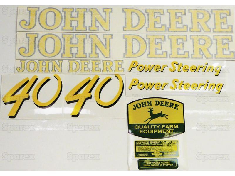 Decal Kit, JD 40 Gas