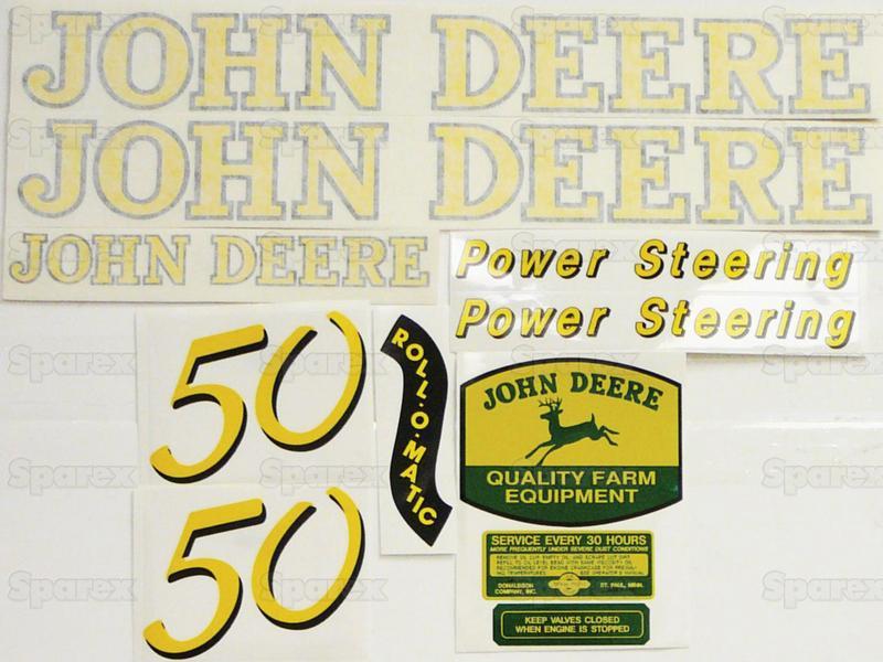 Decal Kit, JD 50 Gas