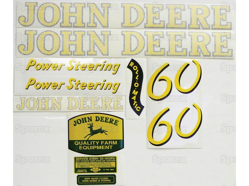 Decal Kit, JD 60 Gas