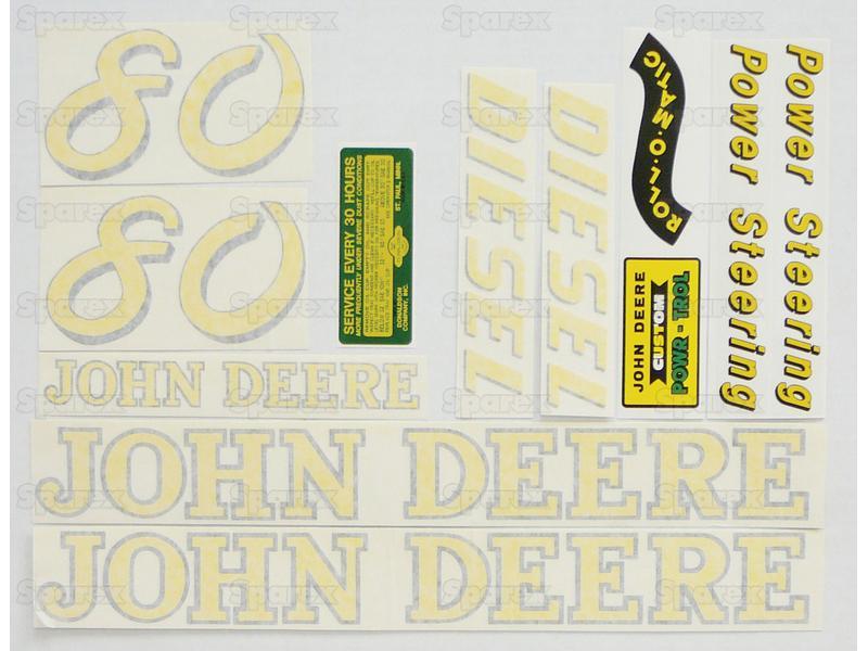 Decal Kit, JD 80 Diesel