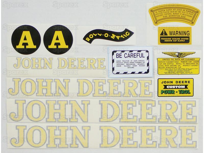 Decal Kit, JD A - Black