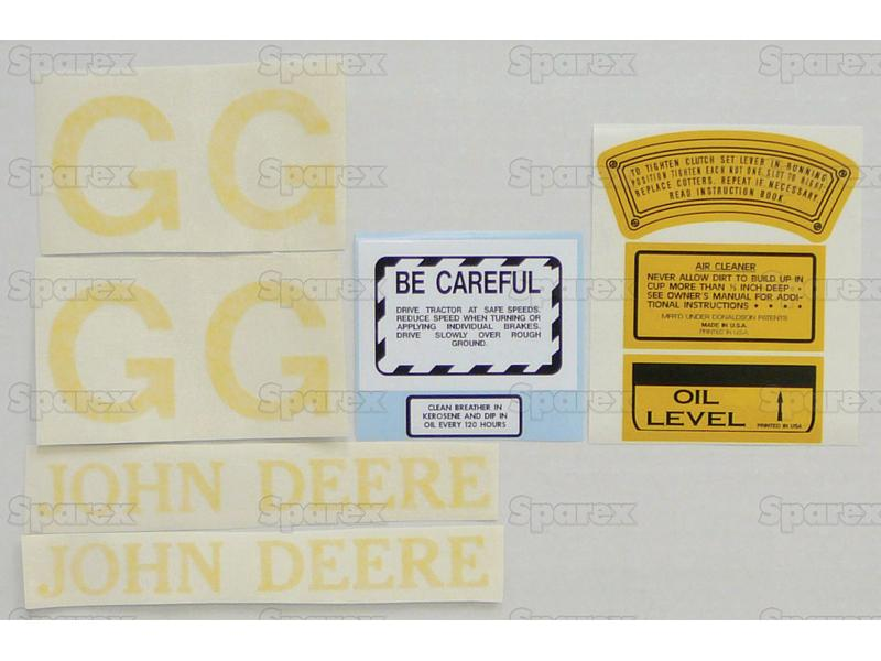 Decal Kit, JD G - Clear