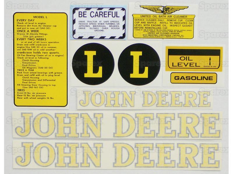 Decal Kit, JD L