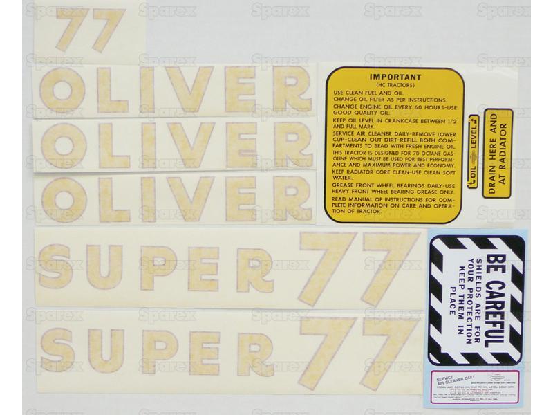 Decal Kit, Super 77