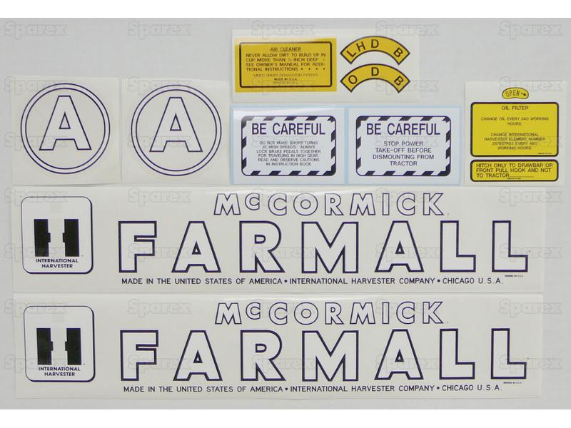 Decal Kit, Farmall A