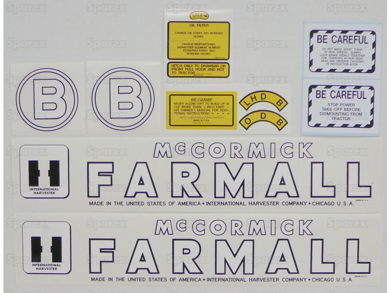 Decal Kit, Farmall B