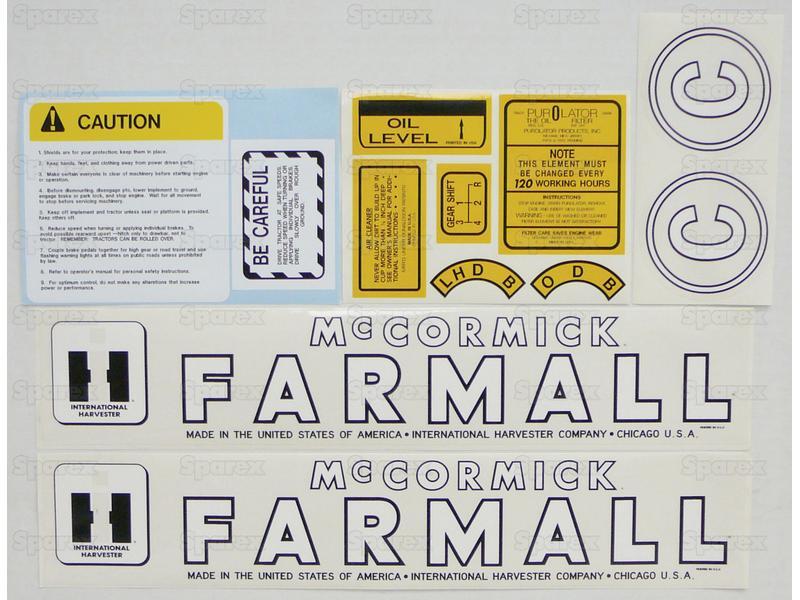 Decal Kit, Farmall C