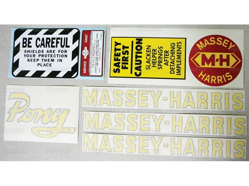 DECAL, MASSEY HARRIS PONY