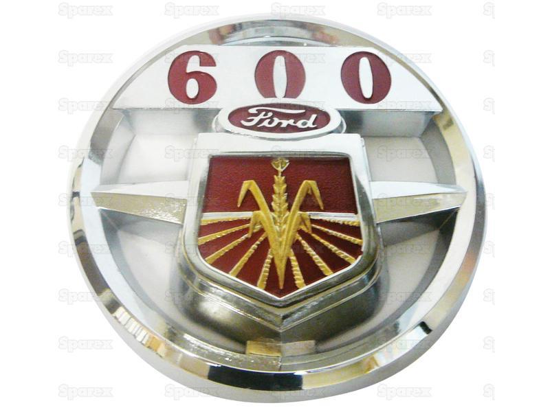 EMBLEM, HOOD, CHROME, FORD 600