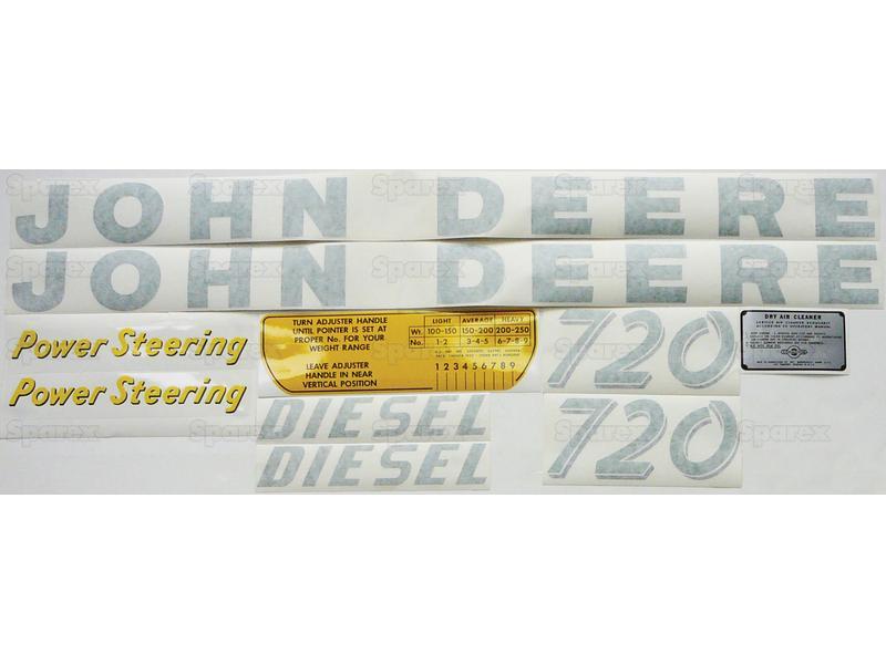 Decal kit, JD 720