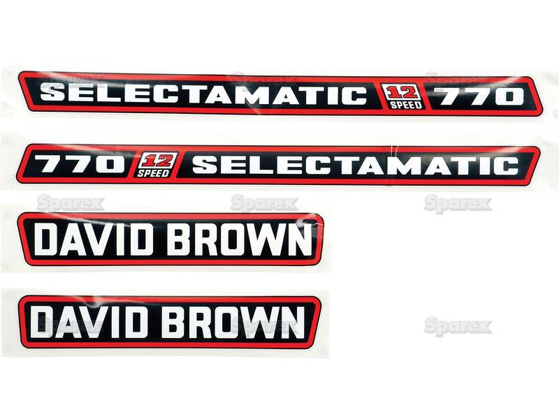 DECALS DB 770 SELECTAMATIC -