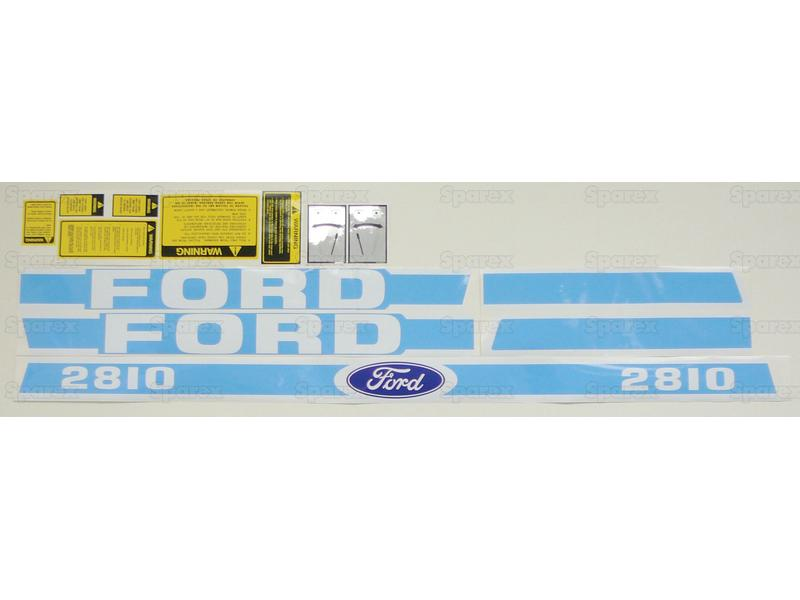 DECAL KIT,FORD 2810 BLUE/WHITE
