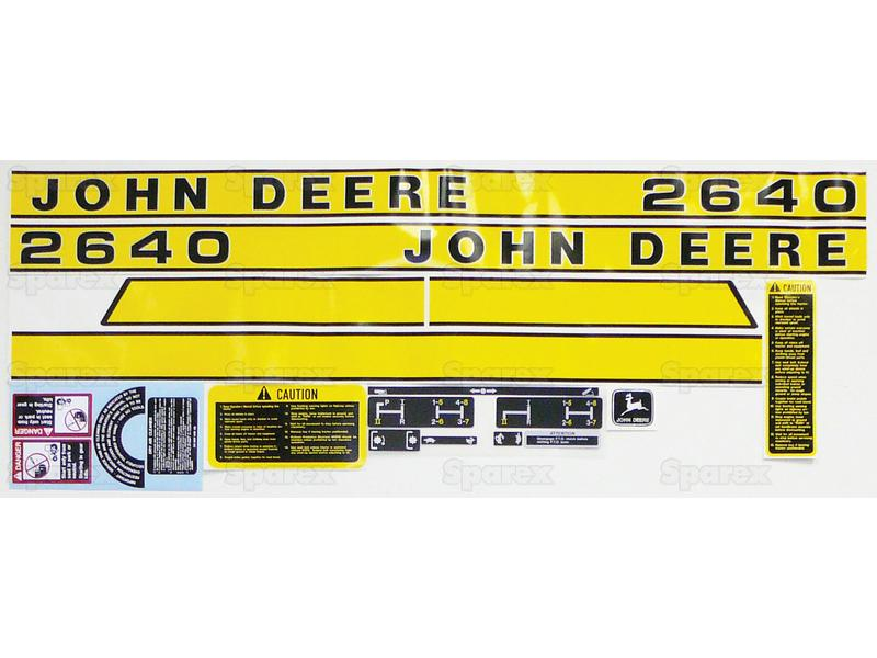 DECAL KIT - COMPLETE JD 2640 EARLY