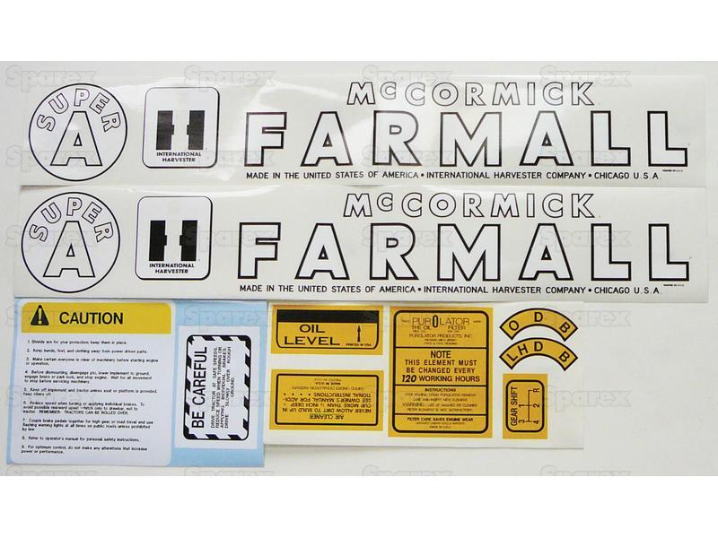 Decal Kit, Farmall Super A